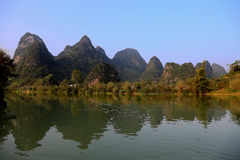 The riverside views in bama villiage ,guangxi, china Stock Photography