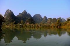 The riverside views in bama villiage ,guangxi, china Stock Photography