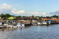 Riverside village on the Amazon River, Brazil Royalty Free Stock Photos