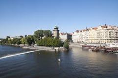 Riverside of Vltava Stock Image