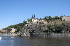 Riverside of Vltava Royalty Free Stock Images