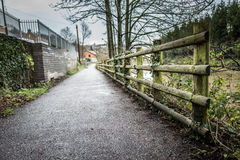 Riverside Walk Royalty Free Stock Photos