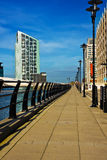 Riverside walk in Liverpool Stock Images