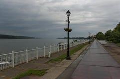 Riverside walk in Vidin town along river Danube, Bulgaria Stock Images