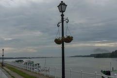 Riverside walk in Vidin town along river Danube, Bulgaria Stock Image