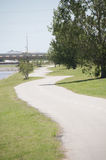 Oklahoma river walking path Stock Image