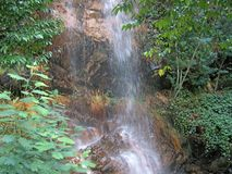 Riverside/waterfall detail - summer time (Orvalho - Portugal) Royalty Free Stock Image