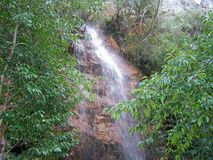Riverside/waterfall detail - summer time (Orvalho - Portugal) Royalty Free Stock Photo