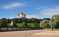 Riverside of Yaroslavl city park Stock Image