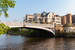 Riverside of york city, uk Royalty Free Stock Photo