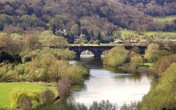RiverThames在英国 库存图片