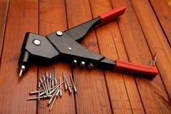 Riverting tool Stock Image