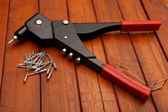 Riverting tool Stock Photography
