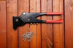 Riverting tool Royalty Free Stock Photo