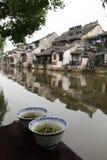 Riverview en Xitang Imagenes de archivo