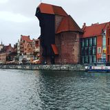 Riverview in Gdansk stock image
