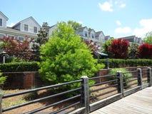 从Riverwalk的看法在威明顿,北卡罗来纳 免版税库存照片