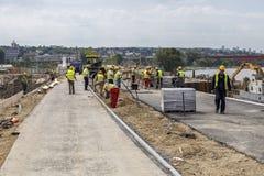 Riverwalk建筑,阶段贝尔格莱德江边项目 库存图片