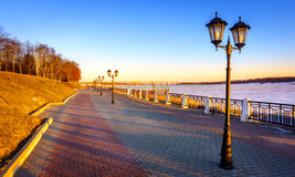 Riverwalk along the Volga Stock Images