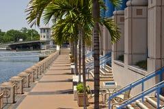 Riverwalk, centro de convenção de Tampa fotografia de stock