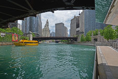 Riverwalk on Chicago River Royalty Free Stock Photography