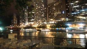 Riverwalk de Chicago imagens de stock