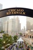 Riverwalk de Chicago foto de archivo