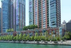 Riverwalk del Chicago Fotografia Stock