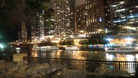 Riverwalk del Chicago Immagini Stock