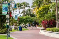 Riverwalk in downtown Fort Lauderdale, Florida Stock Photo