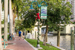 Riverwalk in downtown Fort Lauderdale, Florida Stock Image