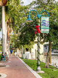 Riverwalk in downtown Fort Lauderdale, Florida Stock Photo
