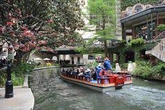 Riverwalk 1. An enjoyable boat ride on the scenic riverwalk waterway through downtown San Antonio, Texas Stock Photo