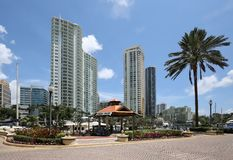 Riverwalk highrise condos and apartments Royalty Free Stock Image
