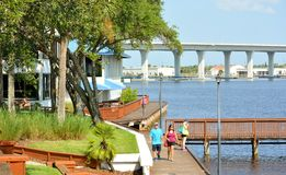 Riverwalk historique Photographie stock libre de droits