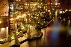 Riverwalk at night Stock Images