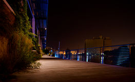 Riverwalk at Night Stock Image