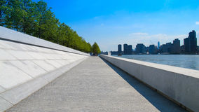 Riverwalk on Roosevelt Island. This is a riverwalk on Roosevelt Island, taken on a lovely sunny day Stock Photo