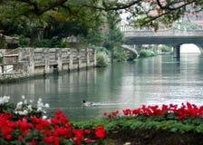 Riverwalk Ruhe lizenzfreies stockfoto