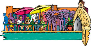 Riverwalk in San Antonio royalty free illustration