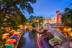 Riverwalk in San Antonio Stock Foto's