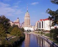 Riverwalk, San Antonio, Tejas. Foto de archivo