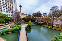 The Riverwalk at San Antonio, Texas. Stock Photos
