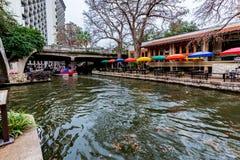 The Riverwalk at San Antonio, Texas. Royalty Free Stock Photo