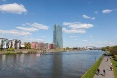 Riverwalk w Frankfurt magistrali, Niemcy Zdjęcie Stock