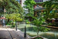 Riverwalkpromenade San Antonio royalty-vrije stock foto's