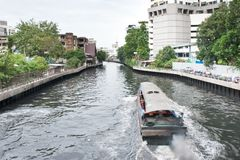 Riverway in asia Stock Photo