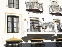 Rivesta di ferro i balconi a Mijas una di villaggi 'bianchi' più bei di Andalusia Immagine Stock Libera da Diritti