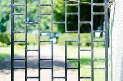 Rivesta di ferro il portone fotografia stock libera da diritti