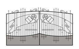 Rivesta di ferro il portone Particolare di architettura Fotografia Stock